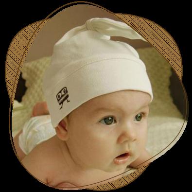 Бебешка шапка с ушички